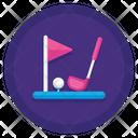 Golf Golf Flag Club Icon