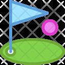 Golf Ball Club Icon