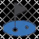 Golf Ground Flag Icon