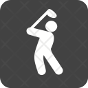 Golf Player Playing Icon