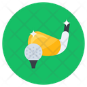 Golf Hit Golf Golf Tee Icon