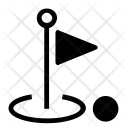 Golf Court Flag Icon