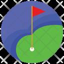 Golf Flag Ball Icon