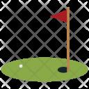 Flag Golf Ground Icon