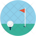Golf Ball Flag Icon