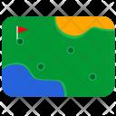 Sport Field Gold Icon
