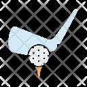 Golf Tee Ball Icon