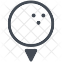Golf Ball Club Competition Icon