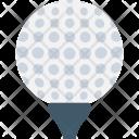 Golf On Tee Icon