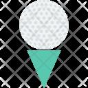 Golf Ball Tee Icon