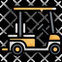 Golf Car Cart Icon