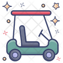 Golf Cart Golf Truck Golf Buggy Icon