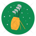Golf Club Bag Golf Equipment Golf Club Kit Icon