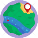Golf Map Location Icon