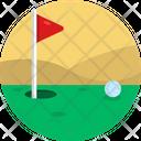 Golf Flag Course Icon