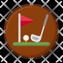 Golf Course Golf Club Golf Field Icon