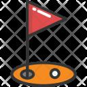 Gold Ball Ground Icon