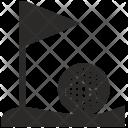 Golf Grass Ball Icon