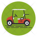 Golf Electric Buggy Golf Transport Golf Cart Icon