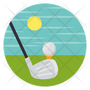 Golf Field Golf Course Golf Club Icon