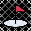 Golf Sport Flag Icon
