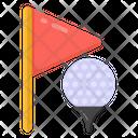 Golf Emblem Golf Success Golf Flag Icon