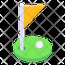 Sports Flag Game Banner Golf Flag Icon