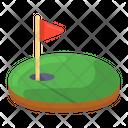 Golf Ground Golf Golf Arena Icon