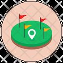 Golf Arena Golf Club Golf Ground Icon