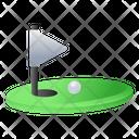 Golf Ground Golf Flag Flagpole Icon