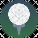 Golf Hit Golf On Tee Golf Tee Icon