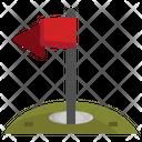 Golf Hole Goal Flag Goal Icon