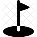 Golf Hole Flag Icon