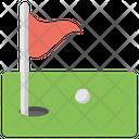 Golf Post Flagpost Icon