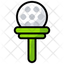 Ball Tee Golf Tee Golf Ball On Icon