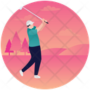 Golfing Golf Player Golf Playing Icon