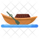 Boat Vintage Boat Rafting Icon