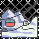 Winter Gondola Ski Icon