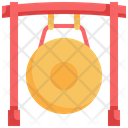 Gong Instrument Chinese New Year Icon