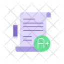 Good Results On Test Paper Icon