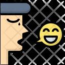 Good Speaking Emotion Mood Icon