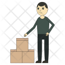 Goods Box Worker Icon