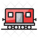 Goods Train Transport Railway Road Icon
