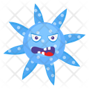 Microorganism Goofy Microorganism Scary Bacteria Icon