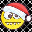 Goofy Santa Emoji Icon
