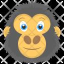 Happy Gorilla Face Icon