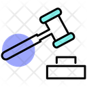 Government Justice Hammer Hammer Icon