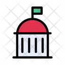Dome Building Real Icon
