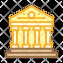 Government Building Color Icon