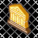 Government Building Isometric Icon